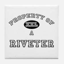 Property of a Riveter Tile Coaster