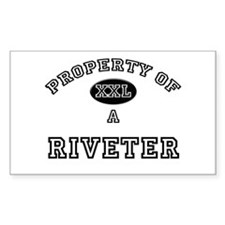 Property of a Riveter Rectangle Decal
