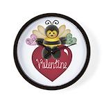 Bee My Valentine Wall Clock