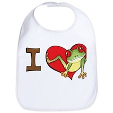 I heart frogs Bib