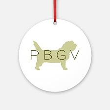 PBGV Dog Sage Ornament (Round)