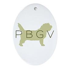 PBGV Dog Sage Oval Ornament