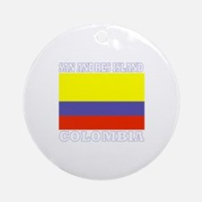 San Andres Island, Colombia Ornament (Round)