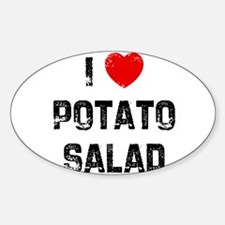 I * Potato Salad Oval Decal