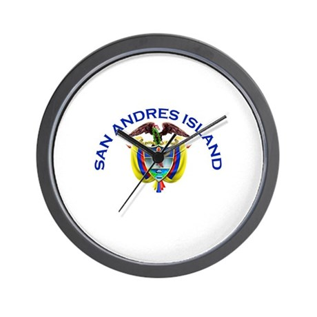 San Andres Island, Colombia Wall Clock