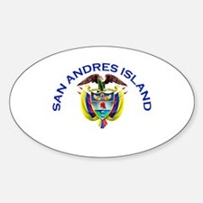 San Andres Island, Colombia Oval Decal