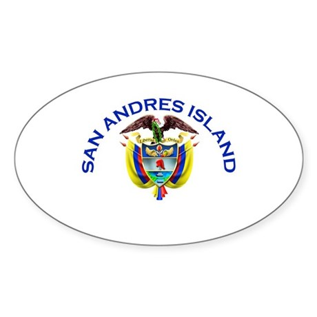 San Andres Island, Colombia Oval Sticker