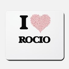 I love Rocio (heart made from words) des Mousepad