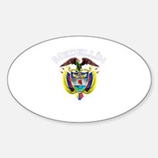 Medellin, Colombia Oval Decal