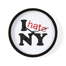 I hate NY Wall Clock