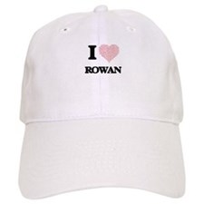 I love Rowan (heart made from words) design Baseball Cap