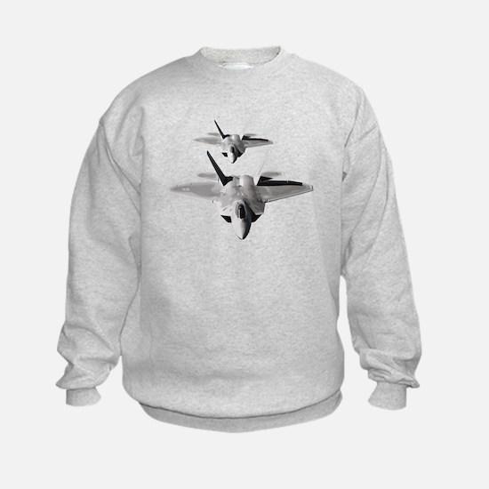 Two F-22 Raptors in Flight Sweatshirt
