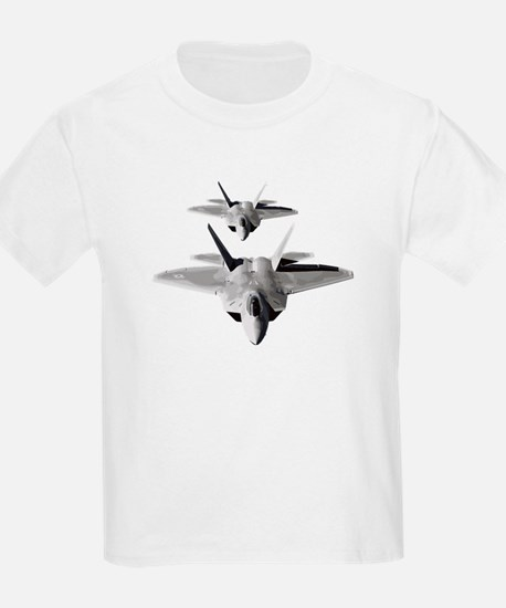 Two F-22 Raptors in Flight T-Shirt