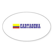 Cartagena, Colombia Oval Decal
