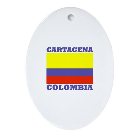 Cartagena, Colombia Oval Ornament
