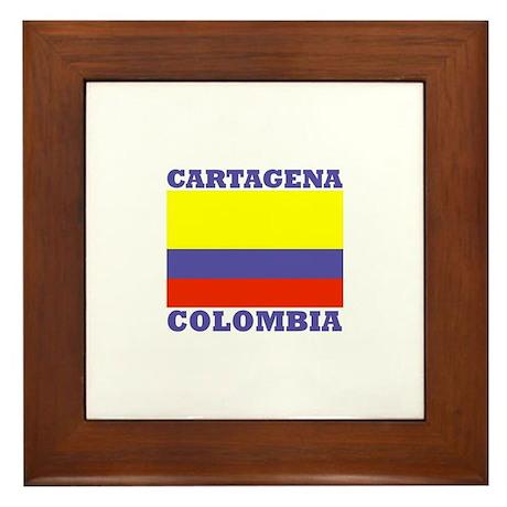 Cartagena, Colombia Framed Tile