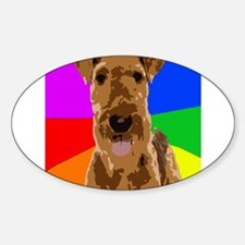 Rainbow Airedale Terrier Decal