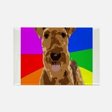 Rainbow Airedale Terrier Magnets