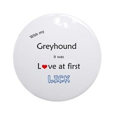 Greyhound Lick Ornament (Round)