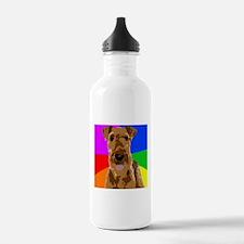 Rainbow Airedale Terri Water Bottle