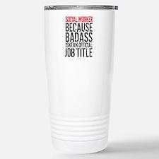 Badass Social Worker Thermos Mug