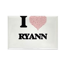 I love Ryann (heart made from words) desig Magnets