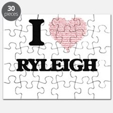 I love Ryleigh (heart made from words) desi Puzzle