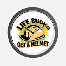 Get A Helmet Wall Clock