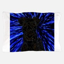 Rainbow Outlined Airedale Terrier in W Pillow Case