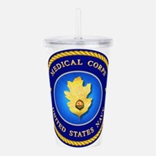 navy_med_corps1A.png Acrylic Double-wall Tumbler