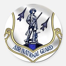 air_nat_grd.png Round Car Magnet