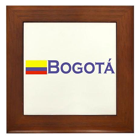 Bogota, Colombia Framed Tile