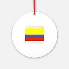 Bogata, Colombia Ornament (Round)