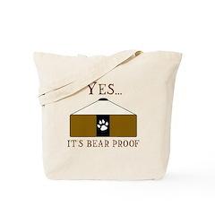 Bear Proof Yurt Tote Bag