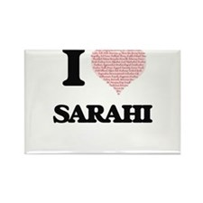 I love Sarahi (heart made from words) desi Magnets