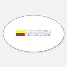 Barranquilla, Colombia Oval Decal