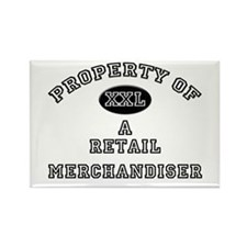 Property of a Retail Merchandiser Rectangle Magnet