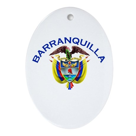 Barranquilla, Colombia Oval Ornament