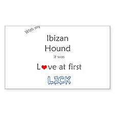 Ibizan Lick Rectangle Decal