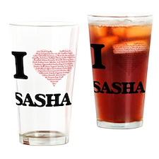 Funny Sasha Drinking Glass