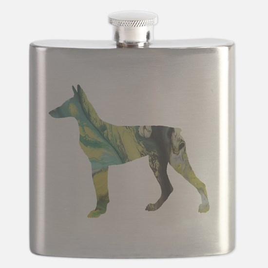 Unique Doberman Flask