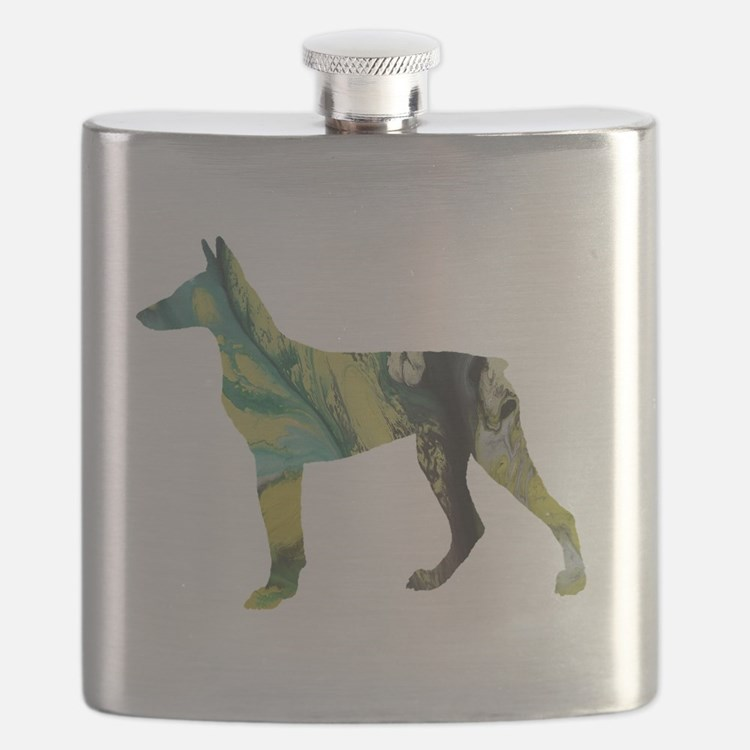 Cute Animal silhouette art Flask