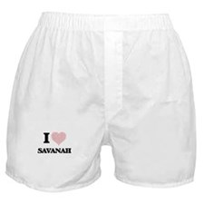 I love Savanah (heart made from words Boxer Shorts