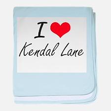 I love Kendal Lane Massachusetts art baby blanket