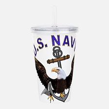 new_navy.png Acrylic Double-wall Tumbler