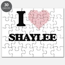 I love Shaylee (heart made from words) desi Puzzle