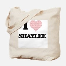 I love Shaylee (heart made from words) de Tote Bag