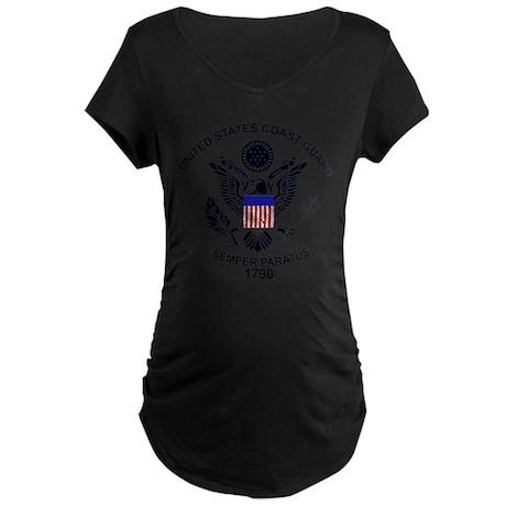 USCG Flag Emble Maternity T-Shirt