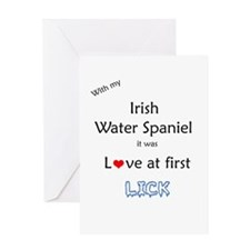Water Spaniel Lick Greeting Card