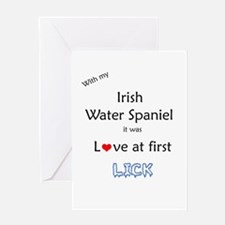 Water Spaniel Lick Greeting Card